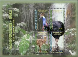 Papua New Guinea 2011. Birds. Cassowaires (MNH OG) Miniature Sheet - Papua-Neuguinea