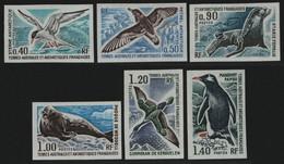 TAAF 1976 - Mi-Nr. 103-108 U ** - MNH - Ungez / Imp - Wildtiere / Wild Animals - Geschnitten, Drukprobe Und Abarten