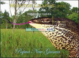 Papua New Guinea 2011. Monitor Lizards (MNH OG) Souvenir Sheet - Papua-Neuguinea