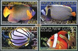 Papua New Guinea 2012. Reef Fish (MNH OG) Set Of 4 Stamps - Papua-Neuguinea