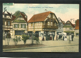 CPA - Exposition De NANCY - Le Village Alsacien, Animé - Nancy