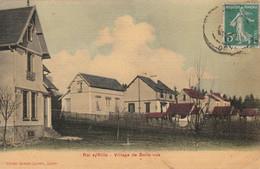 Rai Sur  Rille  - RARE - Carte Toilée - Village De Belle-vue  -  Scan Recto-verso - Otros Municipios