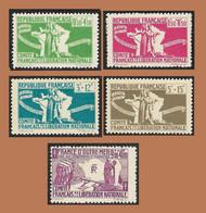 Emissions Générales  - Colonies -  Pour L'Aide Aux Combattants - Comité Liberation - NEUFS** Serie Complète YT 60 à 64 - Other