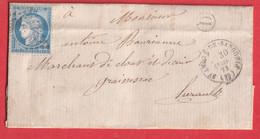 N°60 GC 3500 ST ANDRE DE SANGONIS HERAULT BOITE RURALE D ST SATURNIN GRAISSESSAC - 1849-1876: Klassik