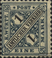 Württemberg D254 With Hinge 1917 Numbers In Signs - Wurtemberg