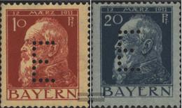 Bavaria D8-D9 With Hinge 1912 Prince Regent Luitpold - Bavaria
