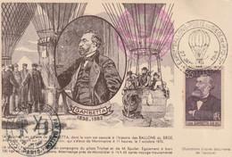 Carte Maximum -  Hommage Aux Aéronautes Du Siège De Paris 1870-71 - Les Anciens Des Ballons D'observation Et De Protecti - Lettres & Documents