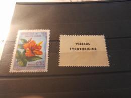 Publicite  Tyrothricine Sur Timbre  Flore Haute Volta - Haute-Volta (1958-1984)