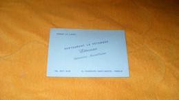 CARTE PUBLICITAIRE DATE ?..RESTAURANT LA PETANQUE ETIENNE SPECIALITES MARSEILLAISES..PARIS Xe. - Advertising