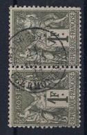 """BELLE OBLITÉRATION """" CHARGEMENTS / CLERMONT FD FERRAND """" 1881 Sur PAIRE SAGE N° 72 (TYPE 1 N Sous B) - 1876-1898 Sage (Type II)"""
