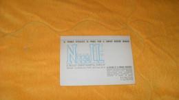 CARTE PUBLICITAIRE  DATE ?..NICOLL LE PREMIER SPECIALISTE DE FRANCE POUR LE CONFORT MODERNE...PARIS Xe.. - Advertising
