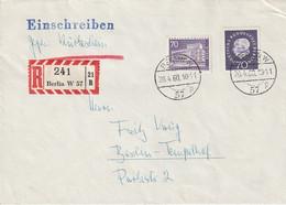 """Berlin / 1960 / Mi. 152 Und 186 Auf Reco-Brief (gegen Rueckschein) Ex """"Berlin W 57"""" (C329) - Covers"""