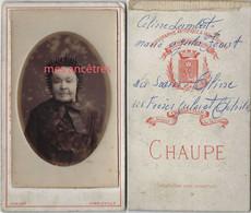 CDV-Céline LAMBERT ép. FEONT Soeur D'Aline, Jules Et Achille-photo CHAUPE à Charleville - Old (before 1900)