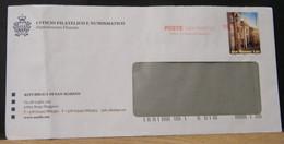 STPN748- BUSTA PT - SAN MARINO UFFICIO CENTRALE RECAPITO  - 1,00€ CONTRADA OMERELLI - Briefe U. Dokumente