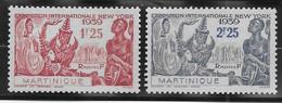 Martinique N°168/169 - Neufs * Avec Charnière - TB - Neufs