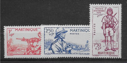Martinique N°186/188  - Neufs ** Sans Charnière - TB - Airmail