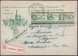 Carte Caves Saint Lucien - Vins De Provenance Directe De La Propriété Bel-Abbês (dep. Oran) Algérie - Pubblicitari