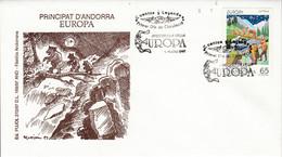 ANDORRE ESPAGNOL FDC 1997 EUROPA - Lettres & Documents