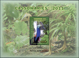 Papua New Guinea 2011. Southern Cassowary (Casuarius Casuarius) (MNH OG) S/S - Papua-Neuguinea