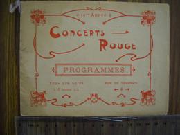 Programme Concerts Rouge . 7 Photos - Programme