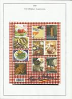 Belgique 3562 à 3571 Année 2006 Gastronomie - Ohne Zuordnung