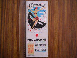 Programme Du Carnaval D' Aix En Provence  En 1939 . 10 Photos . - Programme