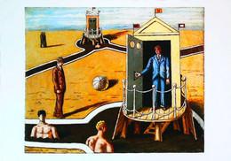 ►◄ GIORGIO DE CHIRICO  Les Bains Mystérieux - Malerei & Gemälde