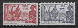Côte D'Ivoire N°144/145  - Neufs ** Sans Charnière - TB - Neufs