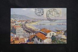 ESPAGNE - Affranchissement De Irun Sur Carte Postale ( Cannes )  Pour La France En 1907 - L 75206 - Cartas