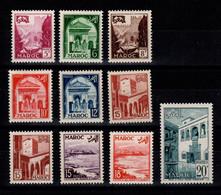 Maroc - YV 306 à 314 N** Cote 8,50++ Euros - Nuovi