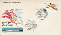 ANDORRE ESPAGNOL FDC 1984 J O DE LOS ANGELES - Covers & Documents