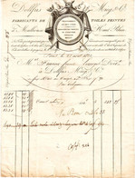 Facture Du Dollfus Mieg & Cie, Fabricants De Toiles Peintes, Mulhouse (Haut Rhin) 1823 - 1800 – 1899
