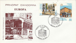 ANDORRE ESPAGNOL FDC 1990 EUROPA - Lettres & Documents