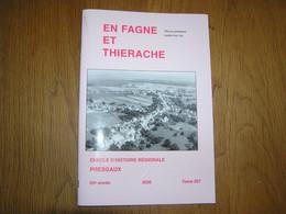 EN FAGNE ET THIERACHE N° 207 Régionalisme Presgaux Saboterie Sabotier Guerre 40 45 Dailly Crash B 17 Macquenoise Chimay - Belgio
