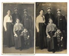1 PHOTO + 1CPA  Identique 1916 - En Bas A Droite De La Photo Et De La Carte F. Moretti  BASTIA (Corse) - GENDARME - Bastia