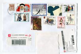 R Enveloppe WATERLOO 1  + Sticker OCMW Sint Niklaas -  Aangetekend - Recommandé - Registered - Postpunt PP - Covers & Documents