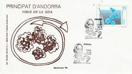 ANDORRE ESPAGNOL FDC 1994 EUROPA - Lettres & Documents