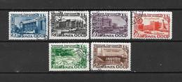 URSS - 1950 - N. 1434/39 USATI (CATALOGO UNIFICATO) - Oblitérés