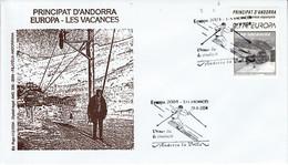 ANDORRE ESPAGNOL FDC 2004 EUROPA - Lettres & Documents
