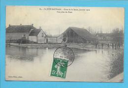 086 -  Saint-Just Sauvage - Crue De La Seine 1910, Vue Prise Du Pont, Animée - UNIQUE - Vertus