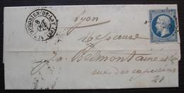 Saint-Just-la-Pendue 1857 Cad De Saint Symphorien De Lay (Loire) Pc 3285 Sur N°14, Pour Lyon - 1849-1876: Classic Period
