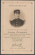 Image Mortuaire - Militaire - Pierre Lumret - 160e Regiment Infanterie (ESNES 9/04/1916) (BP) - War, Military