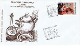 ANDORRE ESPAGNOL FDC 2005 EUROPA - Lettres & Documents