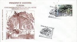 ANDORRE ESPAGNOL FDC 2001 EUROPA - Lettres & Documents