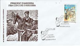 ANDORRE ESPAGNOL FDC 2003 EUROPA - Lettres & Documents
