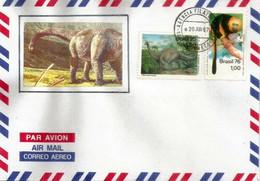 Titanosauria Dinosaur From Brasil, Letter From  Ribeirão Preto, São Paulo State - Prehistorics
