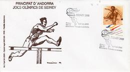 ANDORRE ESPAGNOL FDC 2000 J O DE SIDNEY - Covers & Documents