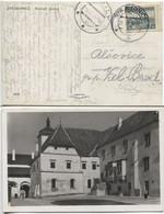 Böhmen Und Mähren CSR #400 Mitläufer Fotokarte Strakonice 29.9.39 Hofplatz Burg - Storia Postale