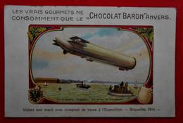 CPA Publicité  Chocolat Baron Anvers - Le Zeppelin 1910 - Pubblicitari