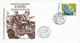 ANDORRE ESPAGNOL FDC 1998 EUROPA - Lettres & Documents